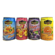 Canned fruit drinks bulk packaging various tastes juice