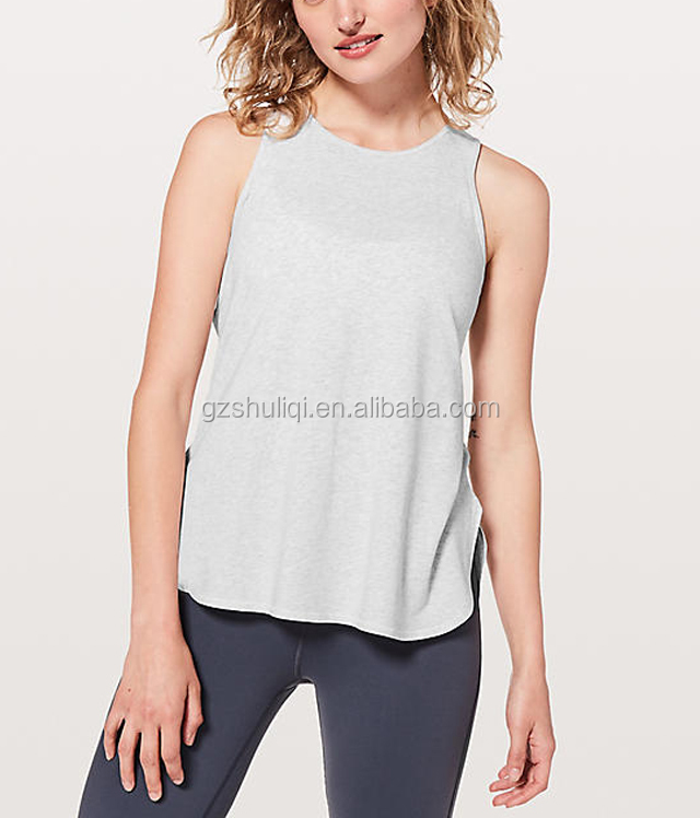 Latest Style Girls 100% Cotton Singlet Backless Soft Tank Tops For Women SO-29