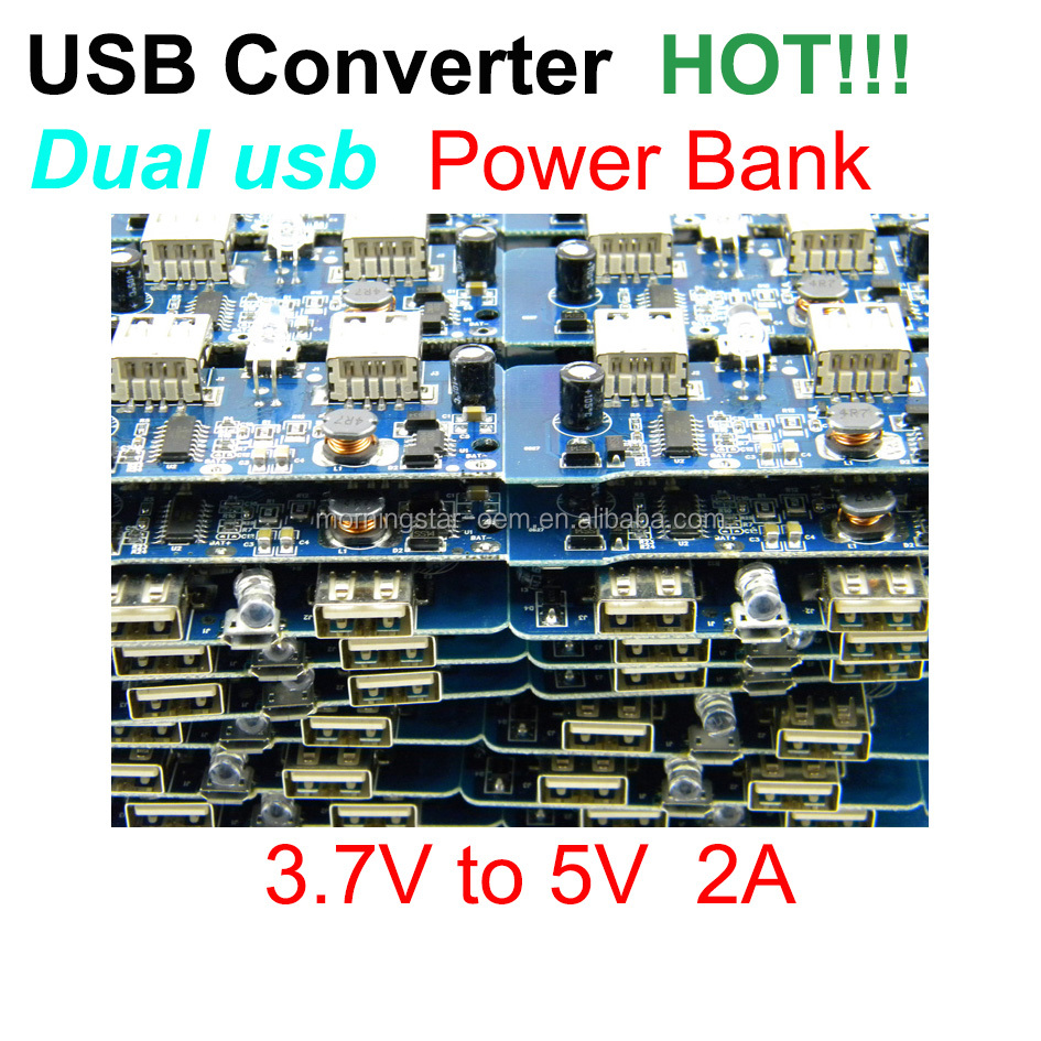 5v 2a Power Bank Charger Circuit Board Portable Supply Module Usb Step Up Double Output For Diy Buy Voltage Outputmicro