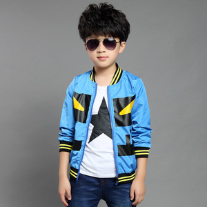 Chic little monsters printing casual unisex wholesale kids jacket