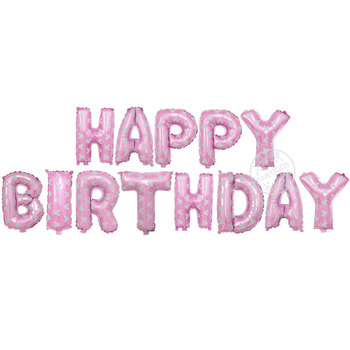 Pink Happy Birthday Letter Balloons.16 Inch Pink Happy Birthday Balloons Set With White Mickey Foil Letter Balloons Party Decorations For Girls Buy 16 Inch Foil Letter Balloons Pink