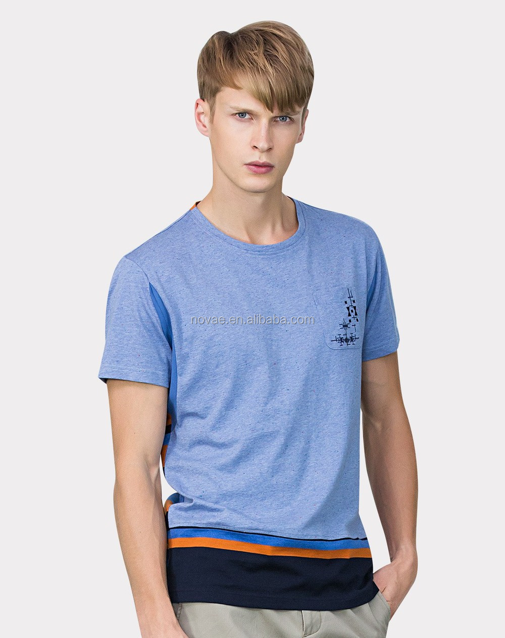 100 Ring Spun Cotton T Shirt Blank Pocket T Shirt