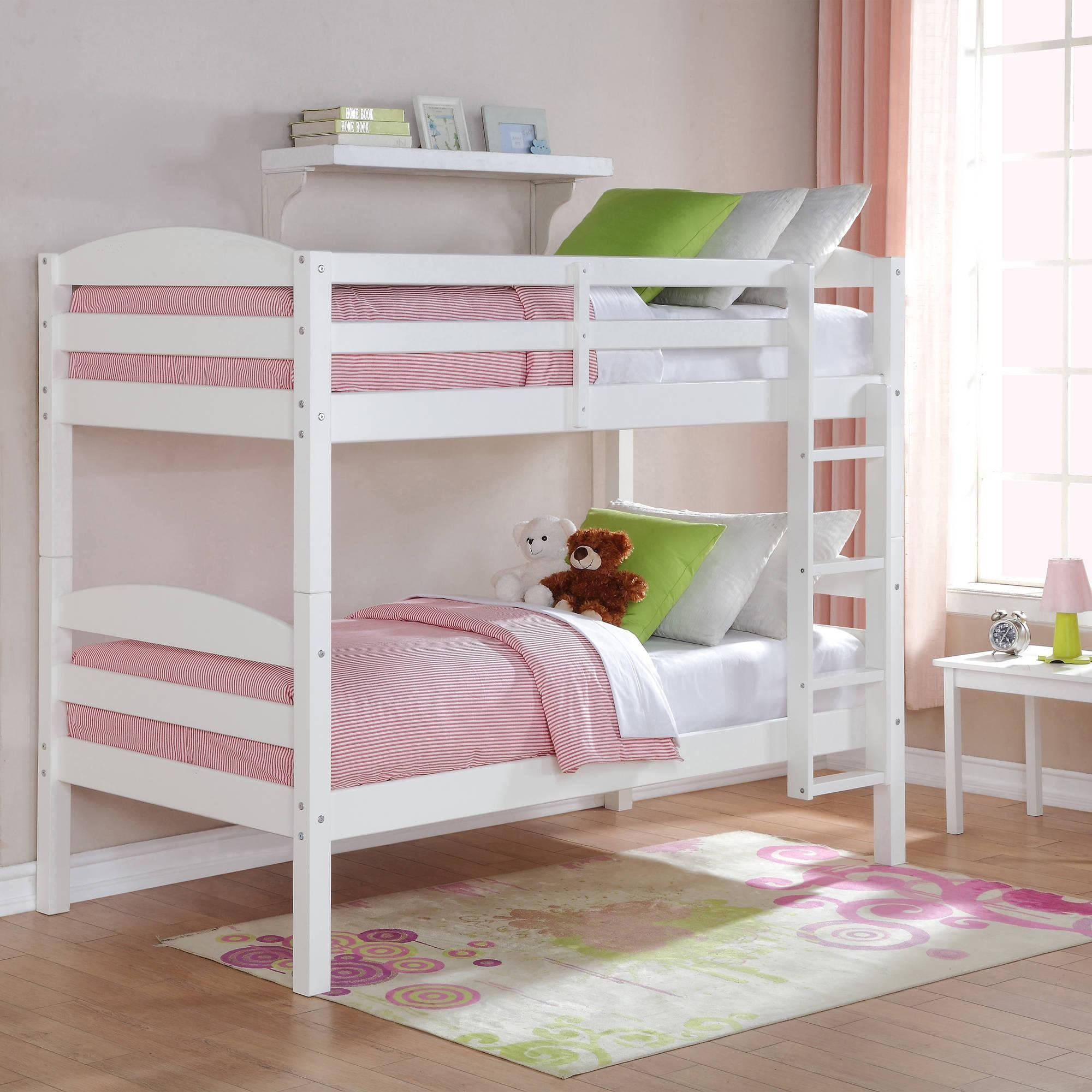 Buy Easy To Convert To Twin Bed Practical Space Saver Wood Bunk Bed