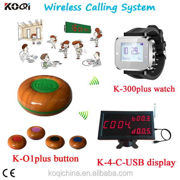 led wrist watch pager patient nurse call system coaster button communication device personal vibrating pager system