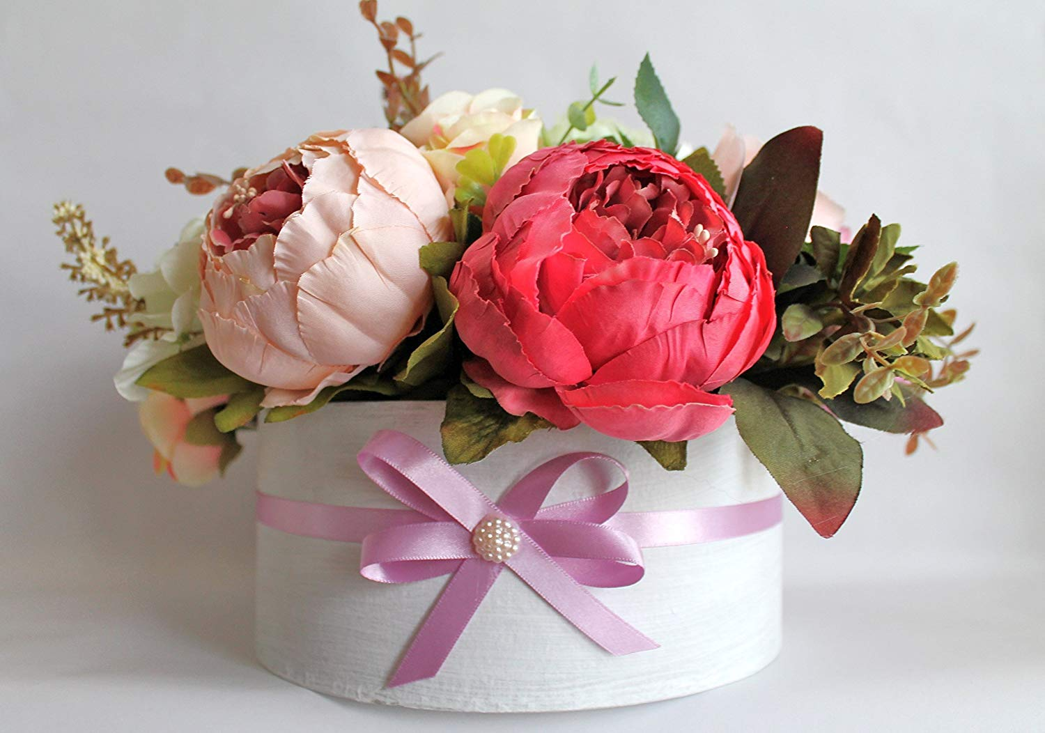 Get Quotations Artificial Flowers Flower Arrangement Birthday Faux Mothers Day