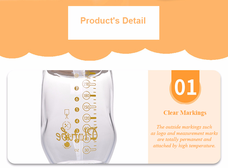 Breastmilk Feeding Bottle with Natural Wave Nipple Baby Nurser Baby Bottle Anti-Colic BPS and BPA Free