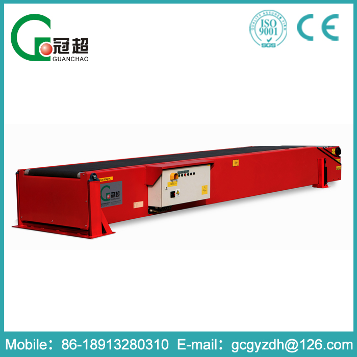 GUANCHAO-MDB skillful manufacture material handling rubber telescopic belt conveyor machine