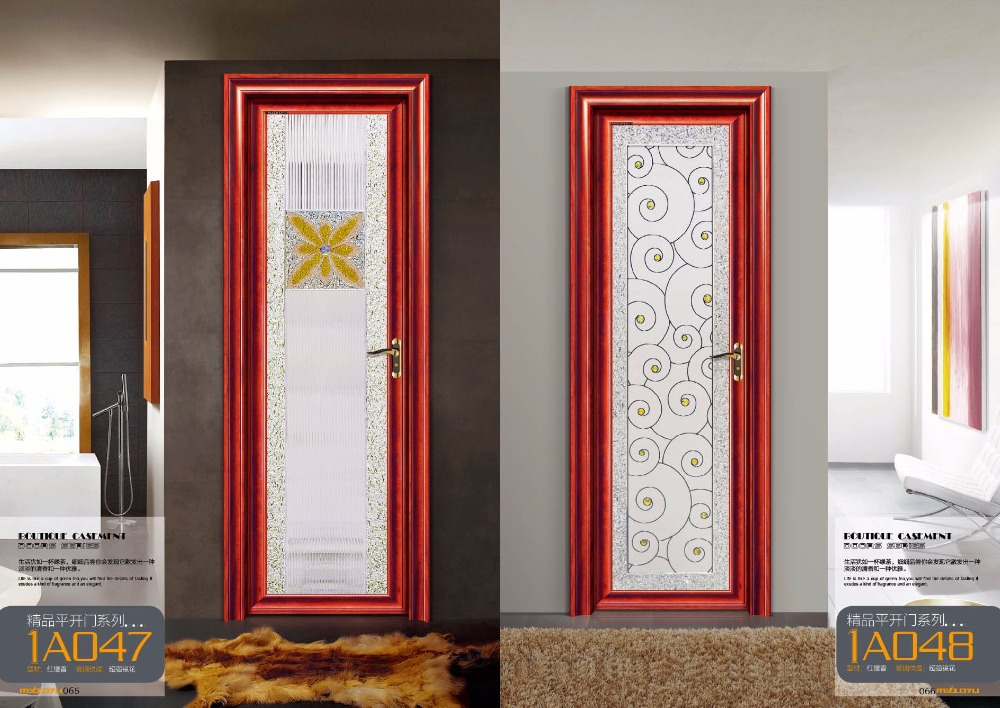 Interior aluminum glass bathroom door design buy luxury for Aluminium bathroom door designs