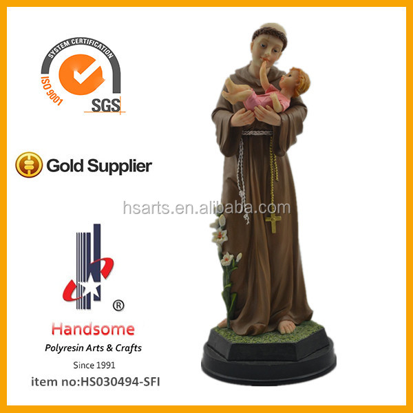 12'' Resin Christian religious Moses hand the bibble statue