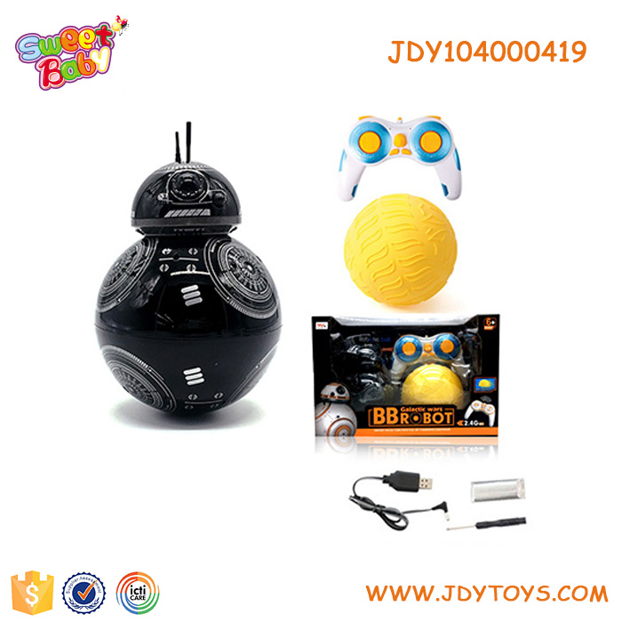 Hot selling funny robot children remote control BB-9E robot and water ball toys