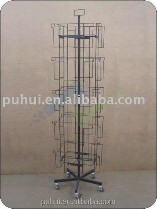 metal floor spinning calendar display fixture from china manufacturer