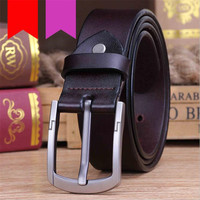LQbelt factory oem genuine leather men's pin buckle belt new design male belts good quality