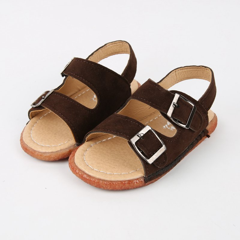 2015 New Children Sandals Shoes Boys Soft Dull Polish Leather Beach Casual Sandals For Boys Summer Style