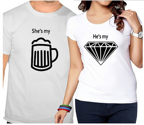 Simple Printed Cheap Funny Couple T Shirts - Buy Funny Couple T ...