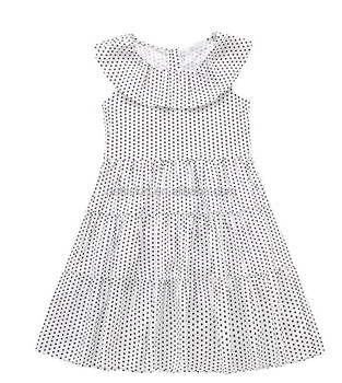 Wholesale Baby Clothes Boutique Design Black White Dots Baby Girls Sleeveless Party Dress