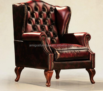 Antique Leather Wingback Chair, View vintage leather chair, AMIGOS Product  Details from Foshan Amigos Furniture Manufacture Factory on Alibaba.com