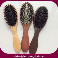QUALITY boar bristle hair brush/wooden boar bristle hair brush