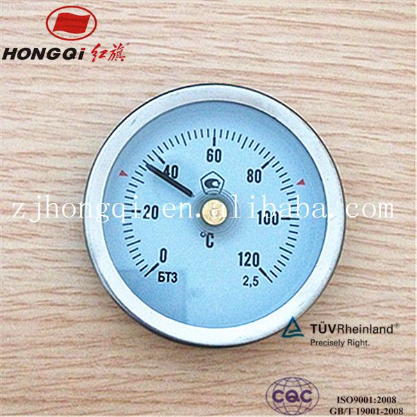 industry Pipeline bimetal thermometer temperature instrument