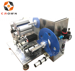 semi automatic sticker tape usb wire folded folding paper labeling machine