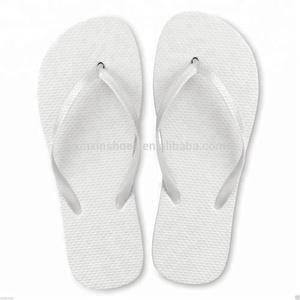 9a71ea3ba307 Customized plain rubber wedding all white flip flop china