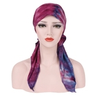 Promotion Tie-Dye Color Printing Cotton Scarf Women Hijab Cap Muslim