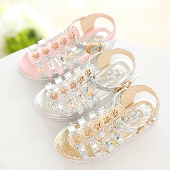 princess shoes girls shoes fashion rhinestone pep toe children sandals girls sandals summer kids sandals free shipping