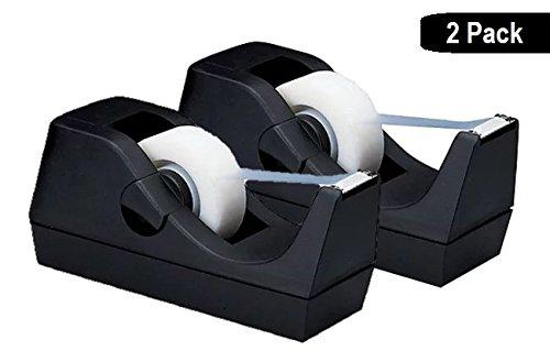 """1InTheOffice Desktop Tape Dispenser, Black""""2 Pack"""" (Tape Dispenser)"""