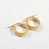 New designs gold jewelry custom fashion gold plated earring