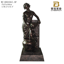 Polyresin lady water fountain