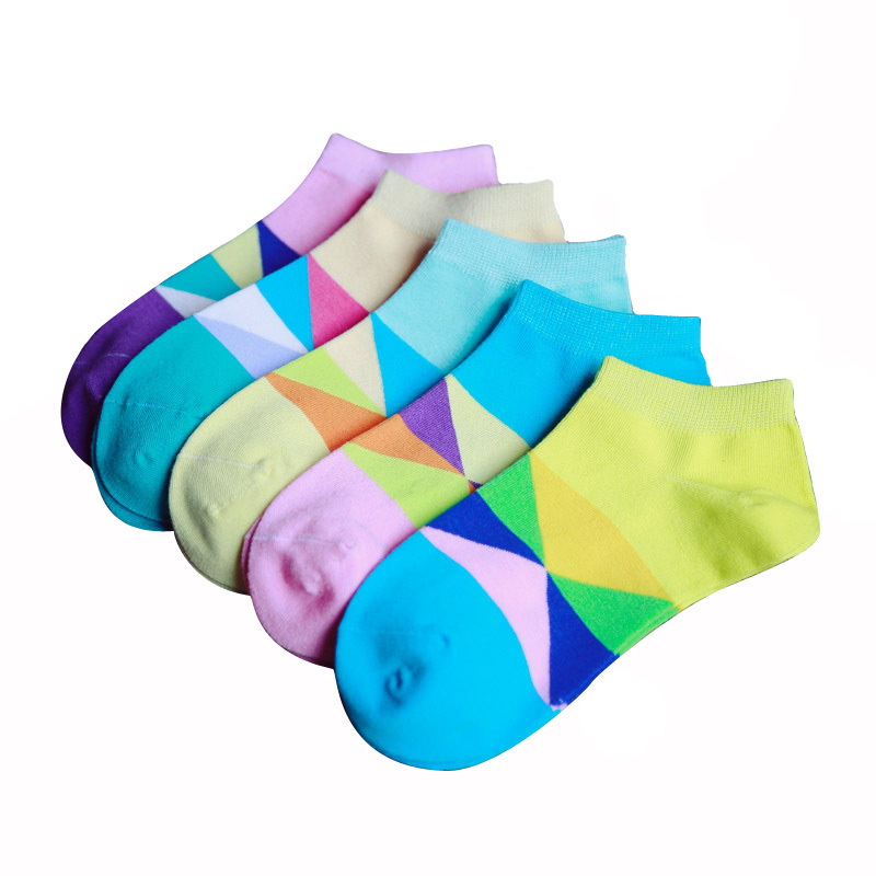 2015 Spring Fashion Women Sock Individuality Cartoon Three Color Stripe Cotton Socks Women Sports Girl Socks Autumn 4pairs/Lot