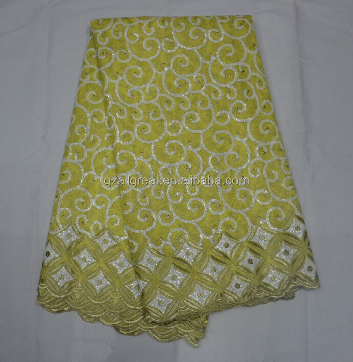 AG2845#7 Wholesale new design african organza lace