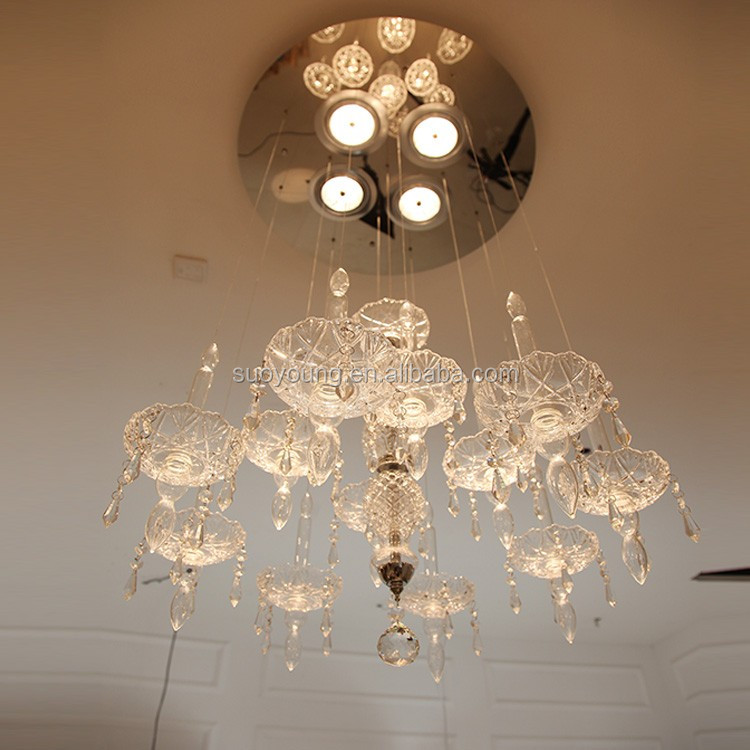 Light Source And Neutral Color Modern Ball Crystal Chandelier ...