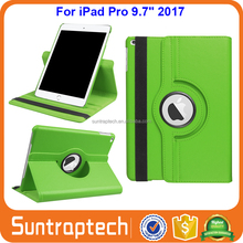 360 Degree Rotating Lychee Stand Leather Case with Smart Cover Auto Sleep Wake Feature for Apple iPad Pro 9.7 2017 IP972017C03