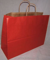 Kraft large paper shopping bags high quality shopping bag paper bag wholesale 16x6x12 Vogue
