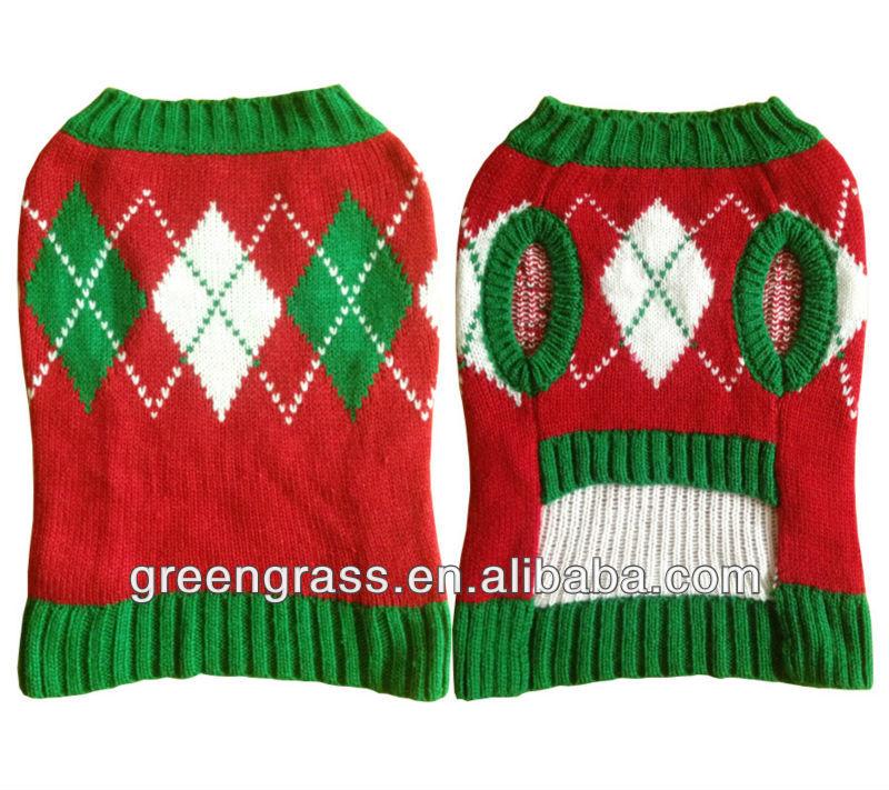 Knit Diamond Pattern Christmas Dog Sweater Buy Dog Sweater Product