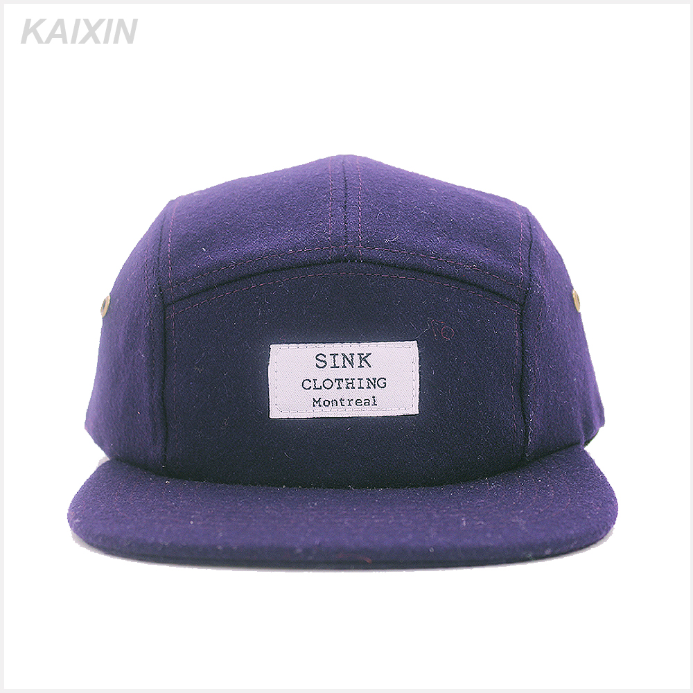 fashion 5 panel <strong>caps</strong> and hats/custom 5 panel camper hat/wool 5 panel hat