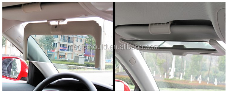 Newest design most popular sun visor auto plastic mould/custom Sun visor parts injection mould for cars