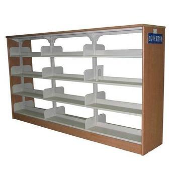Heavy Duty Steel Book Shelf Wooden