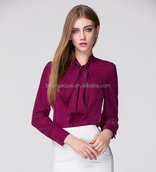 Custom Fashion Las Office Wear Women Formal Shirts Designs