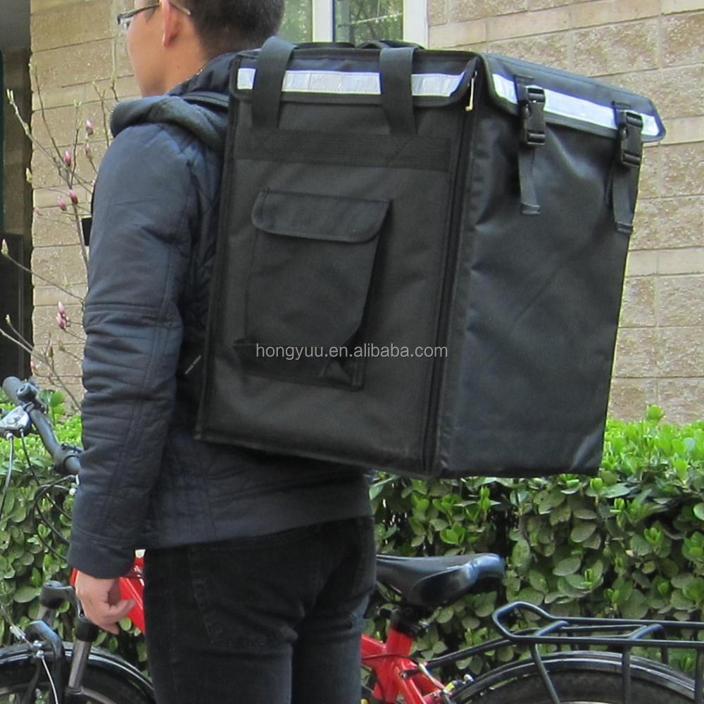 Pizza Delivery Bag Food Delivery Thermal Bag Backpack Warmer Bag With Detachable Boards Inside all the Sides Keep Good Shape