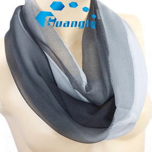 Multi colors high quality soft silk feeling infinity scarf