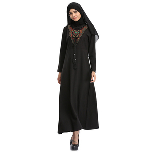 2018 Islamic fashion women clothes black Dubai abaya