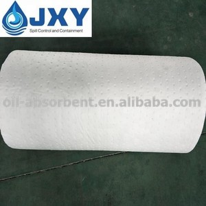 Dimpled and Perforated White Oil Absorbent Rolls