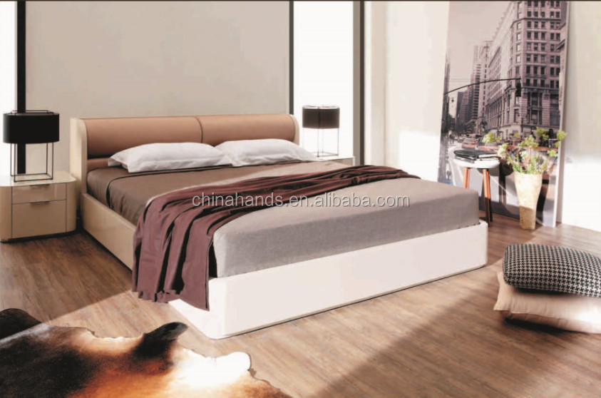 Latest Furniture Wooden Box Bed Design