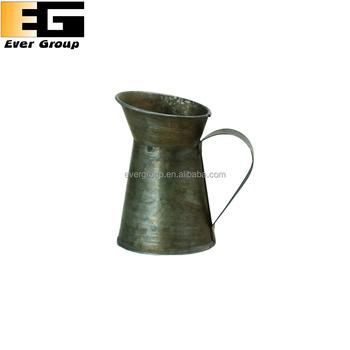 Rustic Antique Cheap Metal Jug Flower Pots Pitcher Vase Buy Rustic