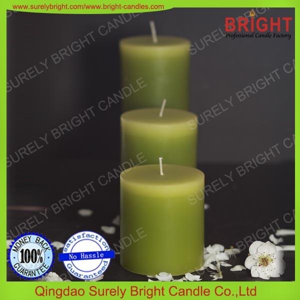 Unscented Gradient Color Pillar Candles Decoration Wholesale