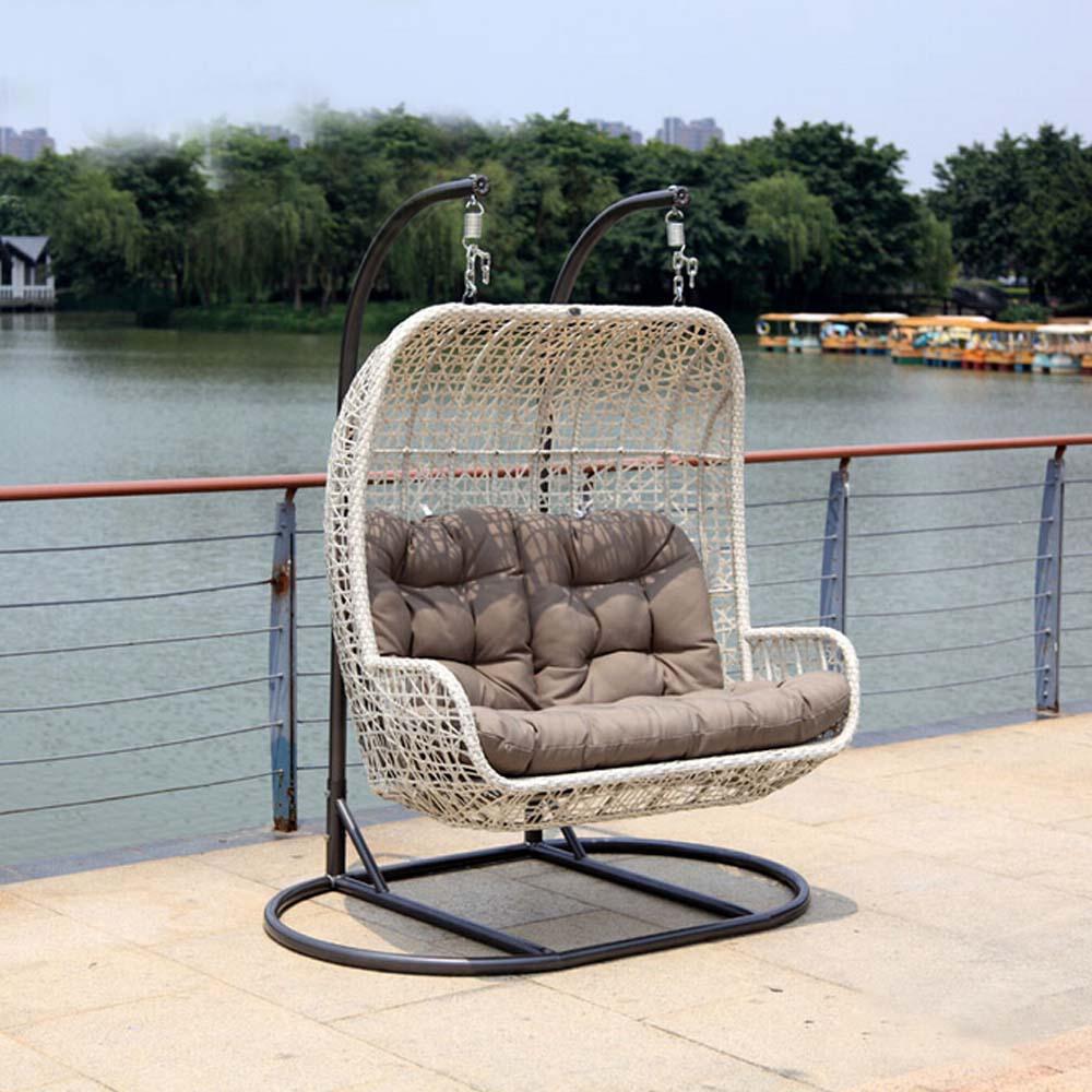 luxus gartenm bel doppel sitz h ngen innen schaukel rattan egg chair wohnzimmer schaukel. Black Bedroom Furniture Sets. Home Design Ideas
