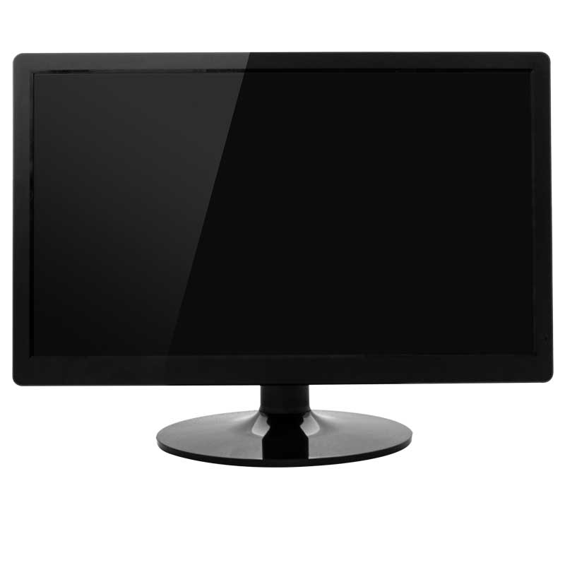 Wholesale desktop black white color HD 21.5 inch lcd computer vga dvi av usb led pc monitor