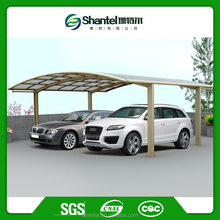 two car metal carport with modern car shed design carport aluminium with polycarbonate sheet