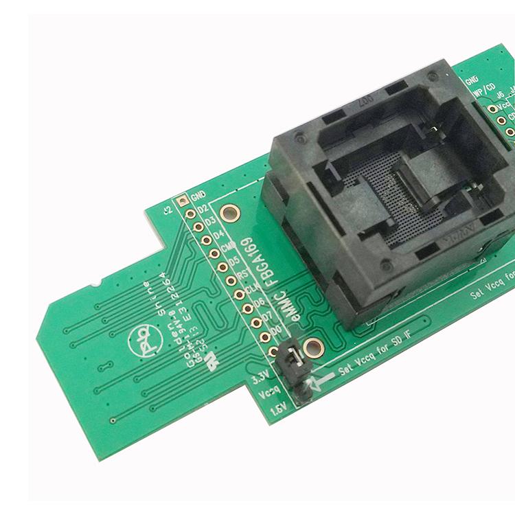 Buy eMMC test Socket to SD, nand flash programmer, for BGA